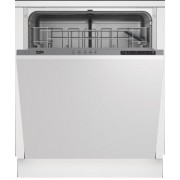 Masina de spalat vase Beko DIN15212, complet incorporabila, clasa A+, latime 60 cm, 12 seturi, 5 programe, control electronic, afisaj LED, panou de control gri