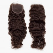 Rapunzel® Extensions Naturali Lace Closure Bouncy Curl 2.2 Coffee Brown 40 cm
