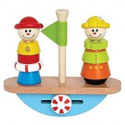 Hape - Early Explorer - Balance Boat Wooden Stacking Toy