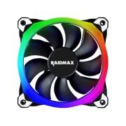 RaidMax Ventilador para Caja 120mm, NV-R120B RGB , 1200 RPM, Conexión a 3/4 Pines, silencioso