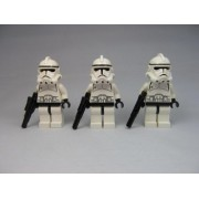 LEGO Star Wars Episode 3 Clone Trooper Lot X3 Minifigures