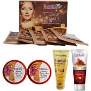 SET OF 1 GOLD RADIANCE FACIAL KIT + 1 RADIANCE BOOSTER FOAM + 1 PERFECT WHITE RADIANCE CREAM + 1 HAND AND FOOT SPA KIT (1 SCRUB + 1 CREAM)