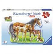 Puzzle cai veseli, 72 piese, RAVENSBURGER
