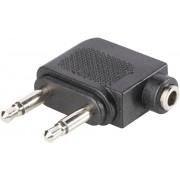 Adaptor jack 3,5 mm, 2 mufe tată/1 mufă mamă, 1102031 BKL Electronic