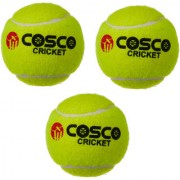 COSCO Light Weight Cricket Tennis Ball Set of 3 PC