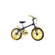 Bicicleta Infantil Track Bikes Dino, Aro 16, Quadro Aço Carbono, Preta Fosca