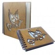 Set agenda si carnetel din lemn fabricate in Romania colectia Porumbei in cutie cadou