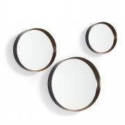 Kave Home Conjunto Ralphe de 3 espelhos Ø 9,5 cm / Ø 9 cm / Ø 7,5 cm