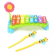 Acefun Rainbow 8-Note Hand Knock Xylophone Toy Baby Musical Toy