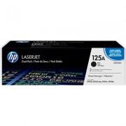 HP 125A 2-pack svart original LaserJet tonerkassett