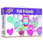 Set creativ pentru copii Galt Animalute din fetru, 5 kit-uri de cusut cu forme gata taiate si snur