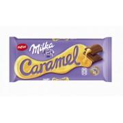 Milka Ciocolata Lapte umpluta cu Caramel 100g
