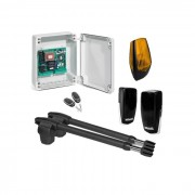 Kit automatizare poarta batanta Motorline LINCE400-KIT 2x3m uz rezidential + lampa