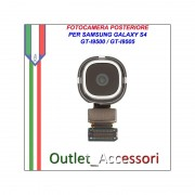 Flat Camera Fotocamera Retro Posteriore per Samsung Galaxy S4 GT I9500