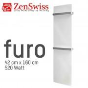 ZenSwiss furo (Farbe: Glanz Weiss, Format: 42 x 160 cm)