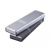 Bestor - HDD esterno capacit+á 500 GB SSD M.2 - Interfaccia USB-C Gen. 2 - Box in alluminio space gray - MAC/PC - Incluso cavo USB-C / USB-C