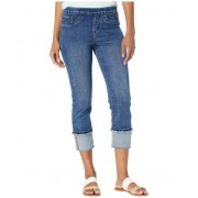 FDJ French Dressing Jeans Statement Denim Pull-On X-Stitch Detail Crop in Blue Denim Blue Denim