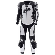 Held Full Speed One Piece Women's Motorcycle Leather Suit Black White 36