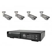 AV-TECH Övervakningspaket utomhus 4 kameror, DVR, 500GB hårddisk