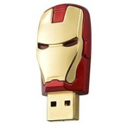 Green Tree Iron Man Head Fancy 16 GB Pen Drive(Red, Gold)
