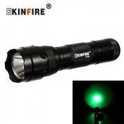 KINFIRE WF502 XPE R3 LED 250LM 3-Mode linterna de la luz verde de la bicicleta