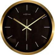 NeXtime Zegar ścienny Stripe czarny