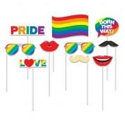 Geen 10x Foto props regenboog/Gay Pride thema