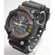 (GH-620) FIBER STRAP DUAL TIME SPORTS WATCH FOR MENS