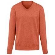 Peter Hahn V-ringad tröja i 100% kashmir, modell Valentin från Peter Hahn Cashmere orange