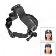 Gato gordo m-hm comodo montaje de cabeza de velcro elastico para gopro heroe 4 / 3+ / 3/2/1 / SJ4000