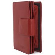 Közepes női piros bőr pénztárca MARIAM