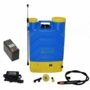 Pompa stropit electrica MOBASA 16 Litri 5 Bar regulator presiune vermorel cu baterie acumulator 12 V