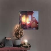 Karácsonyi elemes LED-es kép világítás Mézeskalács 30×30 cm