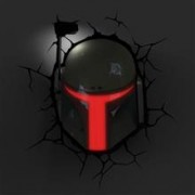 Lampa Star Wars Boba Fett 3D Wall Light With Remote Control