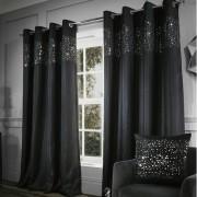 Catherine Lansfield Vorhang-Set Glitzy mit Ösen Catherine Lansfield Vorhanggröße: 168 B x 229 H cm, Farbe: Schwarz