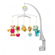 Carusel Muzical Pisicuta, Elefant & Flori - Brevi Soft Toys
