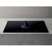 Elica NIKOUPSIDERECYLEBL Nikolatesla Upside Induction Hob with Integrated Extraction Black- Recycling