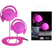 6th Dimensions High Quality Genuine Puqinuo PQN-500 Ear Hook Earphone For Mobile Music Devices (Pink)