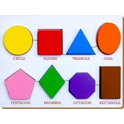 The Kiddy Depot - Shape Wooden Puzzle with Raised Shapes