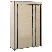 vidaXL Сглобяем гардероб, кремав, 110x45x175 см, текстил