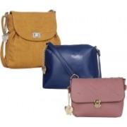 Butterflies Blue, Purple, Tan Sling Bag