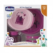 Set pappa chicco all you need set rosa 12m+