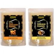 Donnara Organics 100% Natural Sandalwood Powder and Shikakai powder Combo pack of 2 of 150 gms(300 gms)