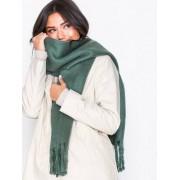 NLY Accessories Big Brushed Scarf Halsdukar & Scarves Grön