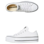 Converse Chuck Taylor All Star Leather Platform Shoe White