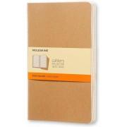 Moleskine Quaderno Cahier Journal large a righe beige. Kraft Brow...