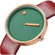 GeekThink Designerski zegarek GeekThink zielono-bordowy
