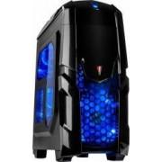 Carcasa Inter-Tech Q2 Illuminator Blue Fara sursa