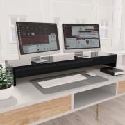 vidaXL Stojan na monitor lesklý čierny 100x24x13 cm drevotrieska
