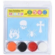 Snazaroo Boys Skull, Spider, Flames Face Paint Kit With Stencils